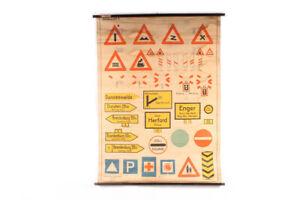 Wall Chart Schulwandkarte Roll Chart Verkehrskarte Traffic Sign