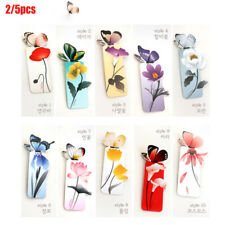 5Pcs Beautiful Butterfly Kraft Bookmarks for Books Markers Holder Gifts New