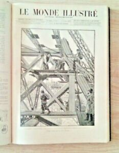 LE MONDE ILLUSTRE Année 1888  ( 1° semestre )  Tour Eiffel  Sarah Bernard