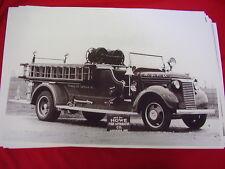 1940 CHEVROLET  FIRETRUCK HOWE PUMPER  BIG 11 X 17  PHOTO /  PICTURE