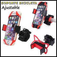 Soporte de Movil para Bicicleta Bici Bike Manillar Goma Sujecion Smartphone GPS