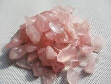 LARGER PARTICLES TUMBLED 10-20MM ROSE QUARTZ CRYSTAL 1/2 BULK STONES PINK 230G