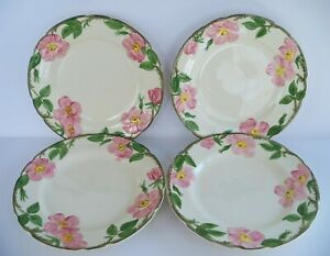 Set of 4 Franciscan DESERT ROSE Dinner Plates Microwave Dishwasher Safe 1979 USA