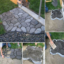 Cobblestone Walkway Maker Patio Garden Path Driveway Concrete Stepping Mold USA