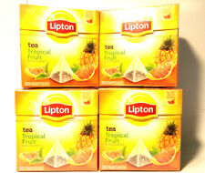 Lipton Tea Tropical Fruit (4x20) or (8x10) 80 Pyramid Tea Bags ,New