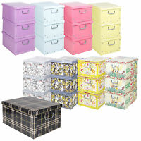 Set Of 3 Underbed Storage Boxes With Lid Handles Clothes Collapsible Lightweight