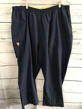 Spread Good Cheer Scrub Uniform Pants Navy Blue Suze Plus Size 5X Stretch Wink