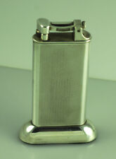 VINTAGE DUNHILL SILVER P LIFT ARM CIGARETTE TABLE LIGHTER - ENGINE TURN PATTERN