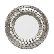 Round Wall Mirror SILVER Finish frame SILVER ROUND MIRROR WITH FRAME DESIGN