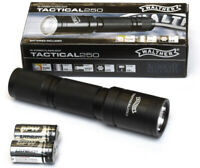 Walther LED Taschenlampe 3.7064  HI-Power Tactical 250 Lumen mit 2x CR123A