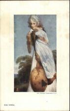 TUCK Oilette Old English Masters Beautiful Woman MISS FARREN c1910 Postcard