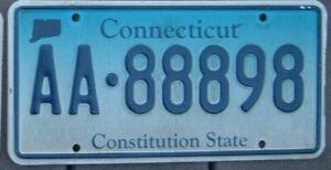 CONNECTICUT  License Plate -  Man Cave  Bar  Garage AA - 888 98   Triple 8 s