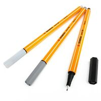STABILO Point 88 Fineliners – Assorted Set of 3 Colours – Monochrome Tones