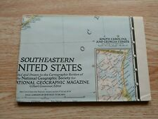 national geographic map 1947 Southeastern US