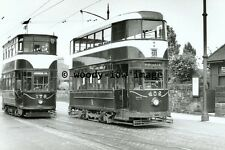 a0356 - Edinburgh Trams 402 & 176 at Granton Road - photograph