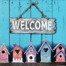 4x Paper Napkins for Decoupage Decopatch Craft Welcome Home
