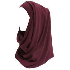 Bubble Pop Chiffon Maxi Women Hijab Scarf Shawl Wrap Muslim Islamic Headwear