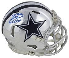 Cowboys Emmitt Smith Signed Alternate Chrome Speed Mini Helmet BAS Witnessed