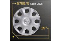 """LOT DE 4 ENJOLIVEURS 15"""" POUR RENAULT CLIO 2005 5750/5"""