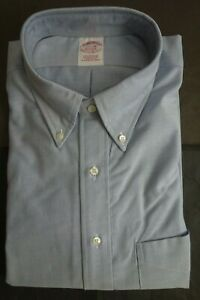 NWOT Brooks Brothers Blue Supima Cotton Button Down 17.5-36 Traditional MSRP $95