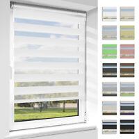 Doppelrollo klemmfix ohne Bohren Duo Rollo Fensterrollo Seitenzugrollo Fenster