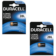 2x Duracell 28L 6 Volt Lithium Photo Battery PX28L, 2CR-1/3N, L544, 2CR13252