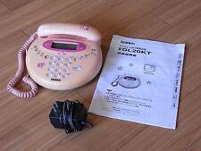 1998 Hello Kitty Telephone Uniden DL20KT Sanrio Japan Vintage Rare Pink