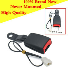 Steel +High Quality Plastic Black Car Seat Belt Lock 13.5mm with Warning Cable