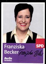 Franziska Becker Autogrammkarte Original Signiert ## 37256