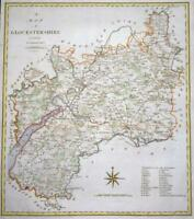 1805 Large Antique Map - GLOUCESTERSHIRE by John Cary hand coloured (LM10)