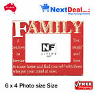 Vida FAMILY Timber 6 x 4 Size Photo Frame Red by NF Living - New!