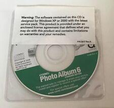 Corel Photo Album 6 digital photo storage sharing software CD For Windows Xp