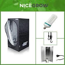 Growset Komplettset Aufzucht Dark Set 80 Wachstum ESL 200W Growbox ohne Abluft
