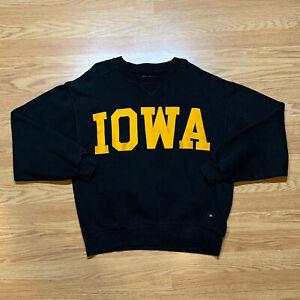 Vintage IOWA HAWKEYES Crewneck Sweatshirt 90s Stitched Mens Size L - MADE IN USA