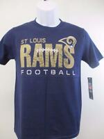 New St. Louis Rams Youth Size M Medium 10/12 Blue T-Shirt MSRP $22