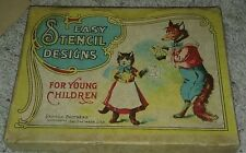 Antique vintage easy STENCILS Parker Brothers art drawing tracing paper