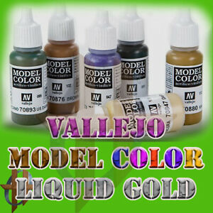 Vallejo Official Model Color Acrylic Paint 17ml & 35ml Liquid Gold Free Ship$35+
