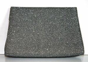 New Silver Grey Glitter Travel Makeup Case Cosmetic Bag Clutch
