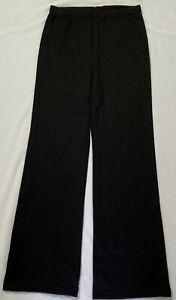 Unisex School Straight Leg Black Track Knit Pants sew-ezy-australia