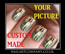 Personalised Custom Made Nail Art Decals Transfers Stickers Wraps Manicure X 32