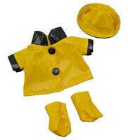 "Rain Slicker w/Hat & Boots Teddy Bear Clothes Fits Most 8""-10"" Build-A-Bear Budd"