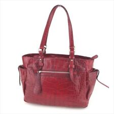 Francesco Biasia Tote bag Red leather Woman Authentic Used G1282