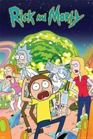 RICK AND MORTY SHOW CHARACTER GROUP POSTER 61x91cm NEW PRINT ART