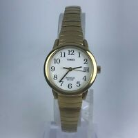 Timex Womens Indiglo Gold Tone Stainless Steel Band Date Indicator Watch