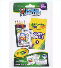 World's Smallest Crayola COLORING BOOK & Colored Pencils Toy - 2 Books ❤️NEW❤️