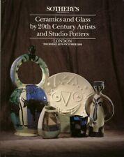 SOTHEBYS Ceramics Glass Picasso Cocteau Dufy Coper Leach Rie Murano Catalog 1990