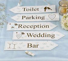 WEDDING VENUE SIGNS X 5 signs & ribbon