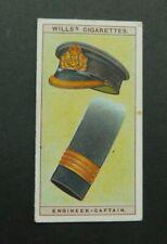 cigarette tobacco card Wills Naval Dress & Badges 1909 #24 Engineer Captain Navy