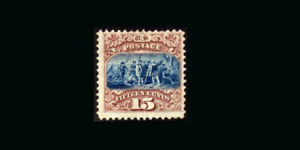 US Stamp Mint VF S#118  PSE CERT. No Gum, tiny thin spot in grill area, Typical