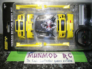 Nissan Skyline Gtr V spec Gf Bnr34  Body Kit Yellow Xmods xtm016